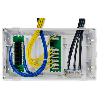 On-Q/Legrand 8 In. MDU Enclosure Kit with Cat5e Data Kit