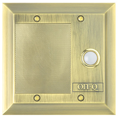 On-Q/Legrand inQuire Intercom Door Unit, Shiny Brass (Open Box)