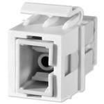 On-Q/Legrand ST Fiber Optic Keystone Snap-In Connector