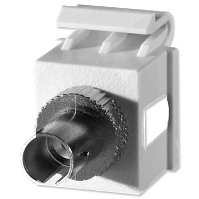 On-Q/Legrand SC Fiber Optic Keystone Snap-In Connector