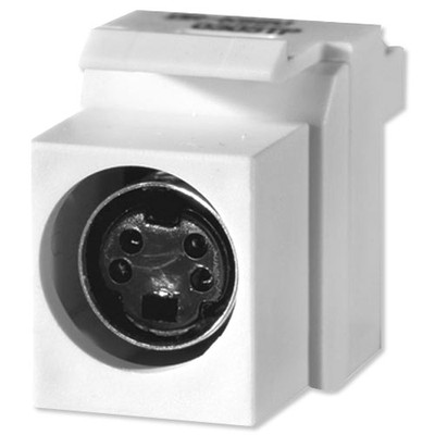 On-Q/Legrand S-Video to 110 Keystone Snap-In Connector
