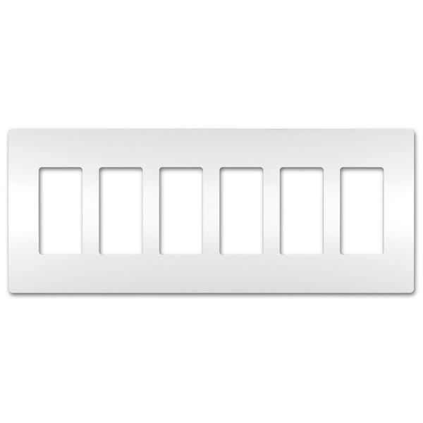 On-Q/Legrand Radiant Screwless Wallplate, 6-Gang, White
