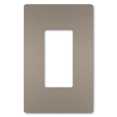 On-Q/Legrand Radiant Screwless Wallplate, 1-Gang, Nickel