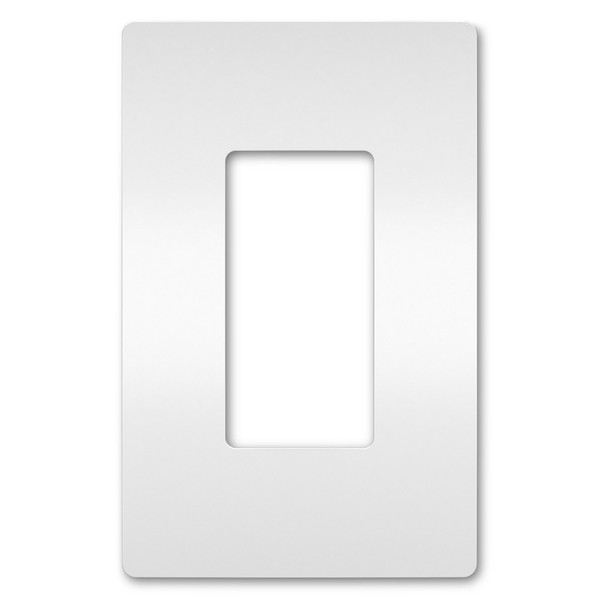 On-Q/Legrand Radiant Screwless Wallplate, 1-Gang, White