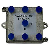 On-Q/Legrand 6-Way Vertical Coax Splitter, 1 GHz