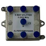 On-Q/Legrand 6-Way Vertical Coax Splitter, 2 GHz