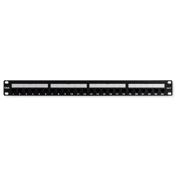 On-Q/Legrand 24-Port Cat6A Rack-Mount Patch Panel
