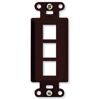 On-Q/Legrand Keystone Decorator Strap, 3-Port