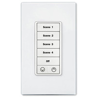 PCS PulseWorx UPB Wall Controller with Load Dimmer, 7 Button, White