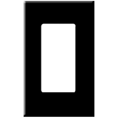 PCS Screwless Decorator Wallplate, 1-Gang, Black