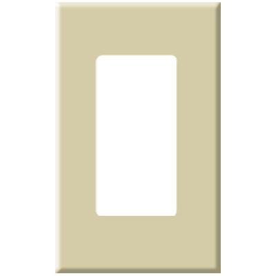 PCS Screwless Decorator Wallplate, 1-Gang, Ivory