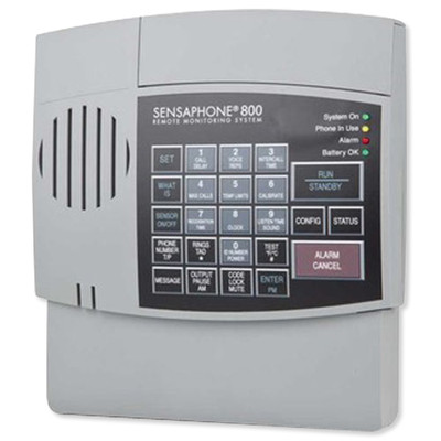 Sensaphone 800 Monitoring System, 8-Channel, Gray