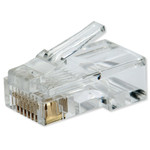 Platinum Tools RJ45 (8P8C) for Round Cable, Solid (3 Prong) Wire, (100 Pack)