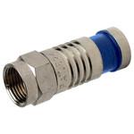 Platinum Tools SealSmart F Compression Connector, RG6 Quad