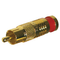 Platinum Tools SealSmart RCA Compression Connector, RG59 (Gold-Plated)