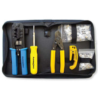 Platinum Tools All-In-One Modular Plug Kit with Nylon Zip Case