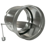 RCS HVAC Bypass Damper, Adjustable Barometric Relief, 14 In.