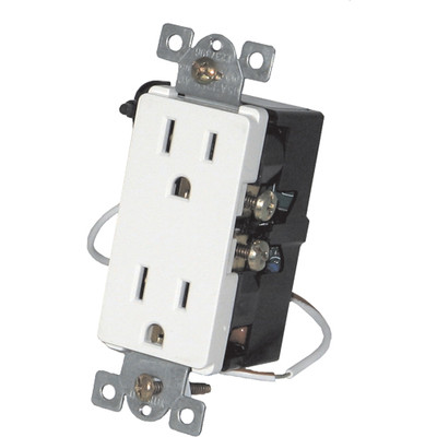 Simply Automated UPB Split Duplex Wall Receptacle, White (Open Box)