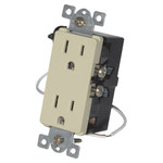 Simply Automated Anywhere Virtual Controlled Split Duplex Wall Receptacle, Almond