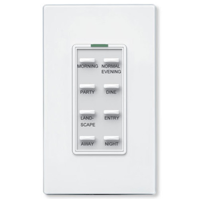 Simply Automated UPB Dimming Switch with 8 Bar Buttons