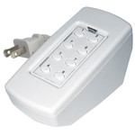 Simply Automated UPB Tabletop Controller, 8 Oval Buttons, White