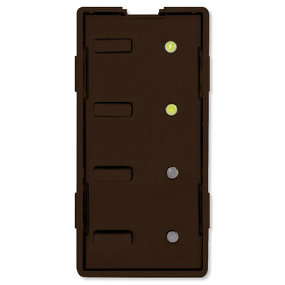Simply Automated UPB Scene Controller Faceplate, 4 Bar Buttons, Brown