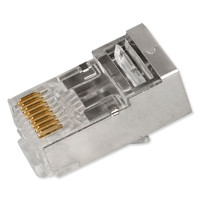 SCP Simply45 Shielded Pass-Through RJ45 Modular Plug, 50 Pack