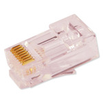 SCP Simply45 Shielded Pass-Through Plugs for 23AWG Cat6 UTP Cables, 100 Pack