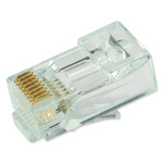 SCP Simply45 Snagless Boots/Strain Relief for Simply45-CAT6 Plugs, Clear, 100 Pack