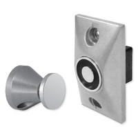 SDC EH Series Magnetic Door Holder and Releasing Device, Flush Mount