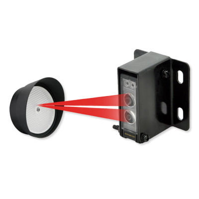 Seco-Larm SEE936S45RRGQ Enforcer Reflective Beam Sensor with Round Reflector