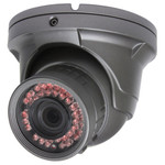 Seco-Larm Enforcer Armored Ball Turret Camera, 600TV, Varifocal, 42 LEDs
