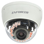 Seco-Larm Enforcer Mid-Size Vandal IR Dome Camera, 540TV, 4~9mm, 21 LEDs