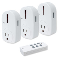 Seco-Larm Enforcer CBA Wireless Outlet Controller, 3-Channel