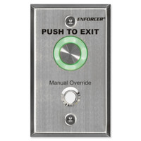 Seco-Larm Enforcer Piezoelectric Request-To-Exit Single-Gang Plate, Manual Override