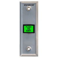 Seco-Larm Enforcer Slimline Push-to-Exit Plate, Illuminated with Timer