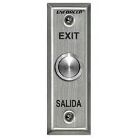 Seco-Larm Enforcer Push-To-Exit Plate, Vandal Resistant, Slimline