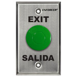 Seco-Larm Enforcer Green Mushroom Button Push-to-Exit Plate with Timer
