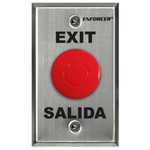 Seco-Larm Enforcer Mushroom Button Push-to-Exit Plate, Red