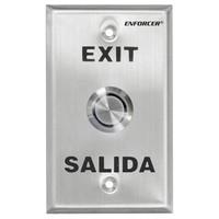Seco-Larm Enforcer Push-To-Exit Plate, Vandal Resistant