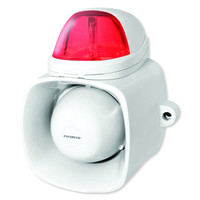 Seco-Larm Enforcer Self-Contained Siren/Strobe with Audio Input, Red