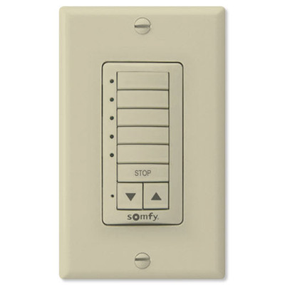 Somfy Decoflex Wirefree RTS Wall Switch, 5-Channel, Ivory