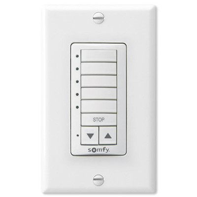 Somfy Decoflex Wirefree RTS Wall Switch, 5-Channel, White