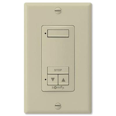 Somfy DecoFlex Wirefree RTS Wall Switch, 1-Channel, Ivory
