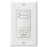 Somfy DecoFlex WireFree RTS Wall Switch, 2-Channel, White