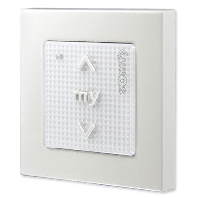 Somfy Smoove 1 RTS Pure Wall Switch, Surface-Mount