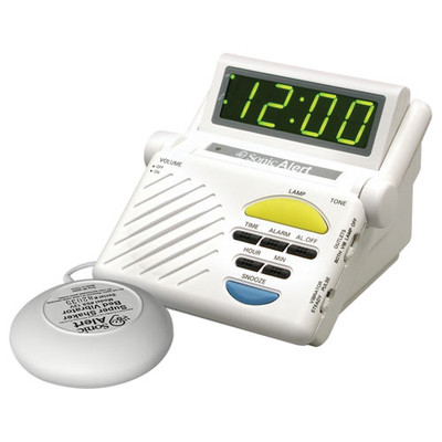 Sonic Alert Boom Alarm Clock with Bed Shaker