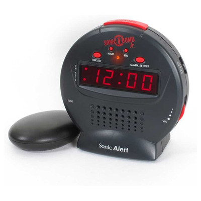 Sonic Alert Bomb Jr Alarm Clock with Bed Shaker