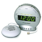 Sonic Alert Alarm Clock & Telephone Signaler with Super Shaker