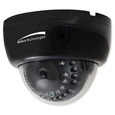 Speco 2MP HD-TVI IR Dome Camera, 2.8-12mm Varifocal Lens, Black
